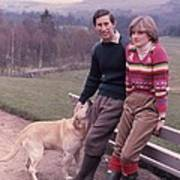 Prince Charles And Lady Diana Print by Retro Images Archive