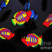 Psychedelic Flying Fish Print by Kaye Menner