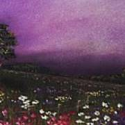 Purple Meadow Print by Anastasiya Malakhova