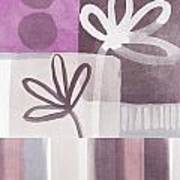 Purple Patchwork- Contemporary Art Print by Linda Woods