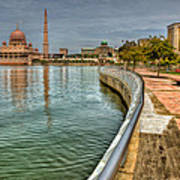 Putra Mosque Print by Adrian Evans