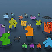 Puzzle Family Print by Gianfranco Weiss