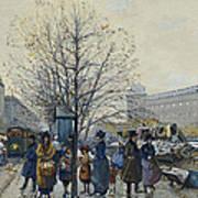 Quai Malaquais Paris Print by Eugene Galien-Laloue