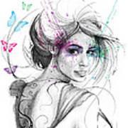 Queen Of Butterflies Print by Olga Shvartsur