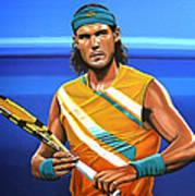 Rafael Nadal Print by Paul Meijering