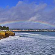 Rainbow Over Santa Cruz Print by Randy Straka