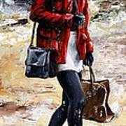 Rainy Day - Woman Of New York 09 Print by Emerico Imre Toth