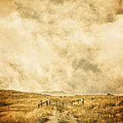 Ranch Gate Print by Edward Fielding