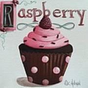Raspberry Chocolate Cupcake Print by Catherine Holman