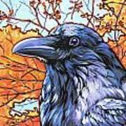 Raven Head Print by Nadi Spencer
