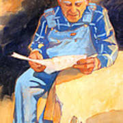 Reading Time Print by Kathy Braud