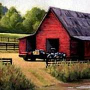 Red Barn In Leiper's Fork Tennessee Print by Janet King