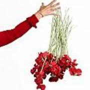 Red Bouquet Print by Bernard Jaubert