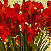 Red Bouquet Print by Dorinda K Skains