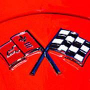 Red Corvette Print by Phil 'motography' Clark