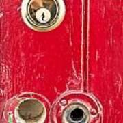 Red Door Lock Print by Tom Gowanlock