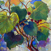 Red Grape Vines Print by Peggy Wilson