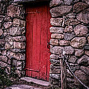 Red Grist Mill Door Print by Edward Fielding