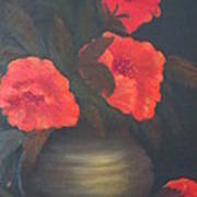 Red Poppies Print by Kay Novy