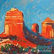 Red Rocks At Sedona Print by Micheal Jones