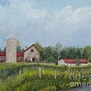 Red Roof Barns Print by Reb Frost