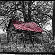 Red Roof Print by Debra and Dave Vanderlaan