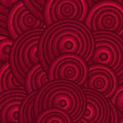 Red Swirls Print by Frank Tschakert