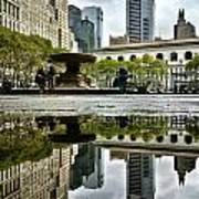 Reflecting In Bryant Park Print by Shmuli Evers