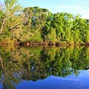 Reflections On The River Print by Debra Forand