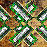 Refresh My Memory - Computer Memory Cards - Electronics - Abstract Print by Andee Design