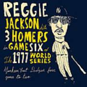 Reggie Jackson New York Yankees Print by Jay Perkins