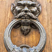 Renaissance Door Knocker Print by Melany Sarafis