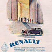 Renault 1930 1930s Usa Cc Cars Print by The Advertising Archives