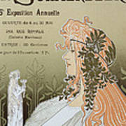 Reproduction Of A Poster Advertising 'schaerbeek's Artistic Circle Print by Livemont