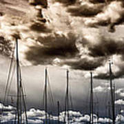 Resting Sailboats Print by Stelios Kleanthous