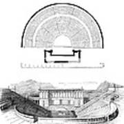 Restoration Of The Greek Theater Print by Photo Researchers