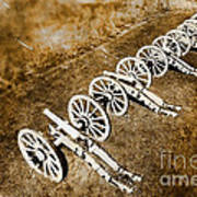 Revolutionary War Cannons Print by Olivier Le Queinec