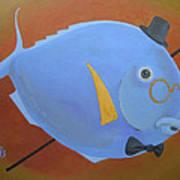 Rhapsody In Blue Print by Marina Gnetetsky