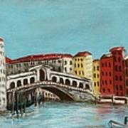Rialto Bridge Print by Anastasiya Malakhova