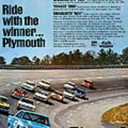 Ride With The Winner... Plymouth Print by Digital Repro Depot
