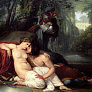 Rinaldo And Amida Print by Francesco Hayez
