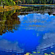 Ripples On Fly Pond - Old Forge New York Print by David Patterson