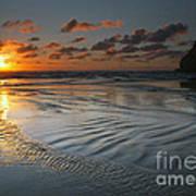 Ripples On The Beach Print by Mike  Dawson