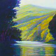 River Bend Print by Ed Chesnovitch