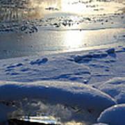 River Ice Print by Hanne Lore Koehler