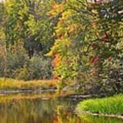 River In Fall Print by Rhonda Humphreys