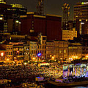 Riverfront Evening Concert Print by Diana Powell