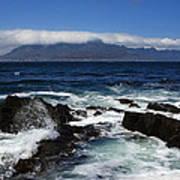 Robben Island View Print by Aidan Moran