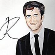 Robert Pattinson 64a Print by Audrey Pollitt