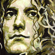 Robert Plant. Golden God Print by Tanya Filichkin